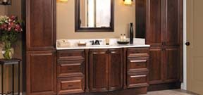 Use our MasterBath custom bathroom vanity program