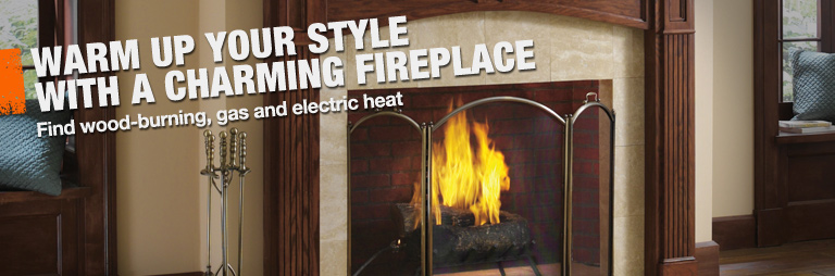 Find wood-burning, gas and electric fireplaces and accessories at The Home Depot.