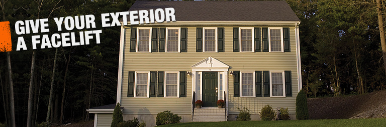 Give your exterior a facelift with siding from The Home Depot.