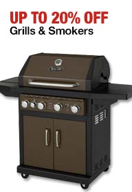 20% off grills and smokers at Home Depot big sale for Black Friday 2014