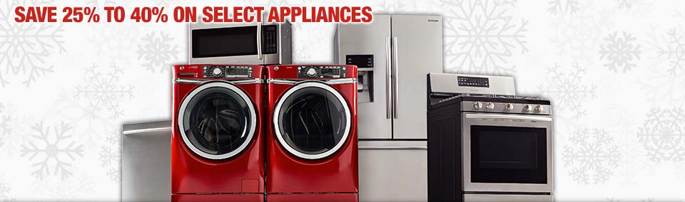 Home Depot black Friday 2014 save 25% to 40% on select appliances