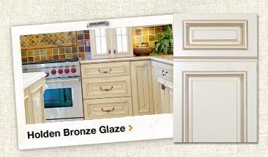 Holden Bronze Glaze Assembled Kitchen Cabinets