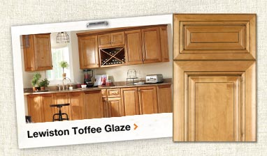 Lewiston Toffee Glaze Assembled Kitchen Cabinets