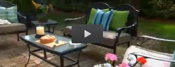View outdoor furniture and outdoor decorations video