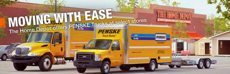 MOVING WITH EASE – The Home Depot offers PENSKE Trucks at select stores