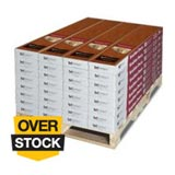 Overstock on pallet flooring