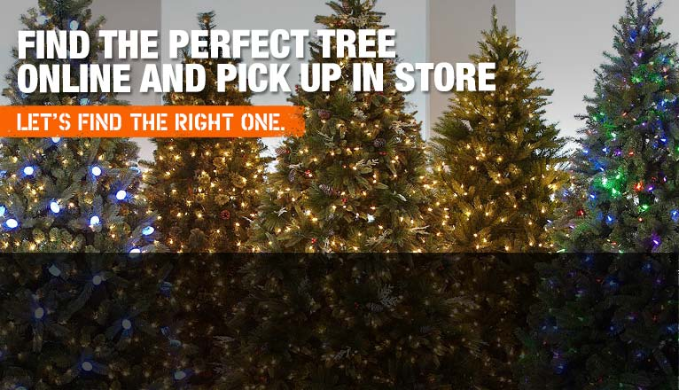 Christmas trees real artificial trees for Home depot christmas decorations 2013