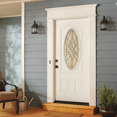 Exterior doors at the home depot for Entrance door with window