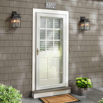 Exterior doors at the home depot for Front door with storm door