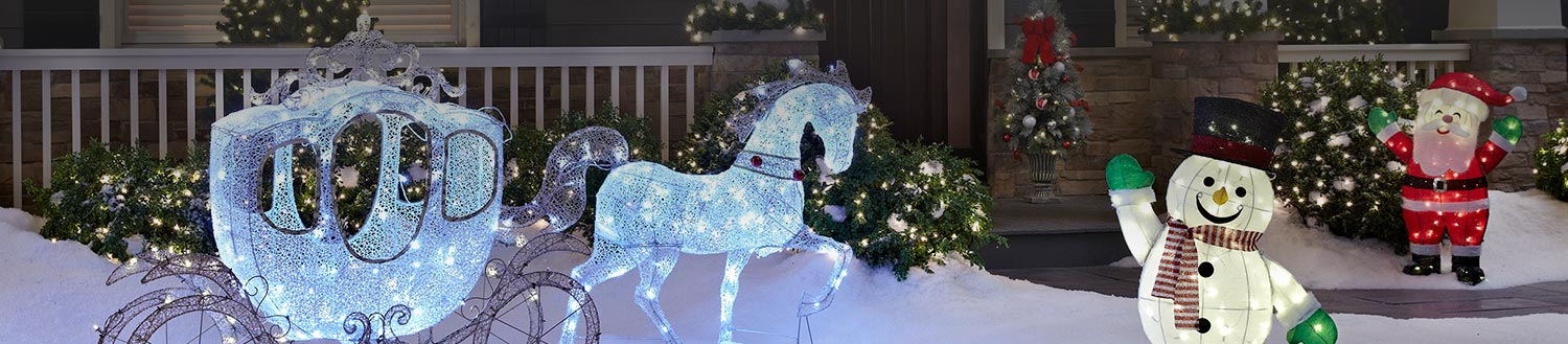 Outdoor christmas decorations for Outdoor christmas figures