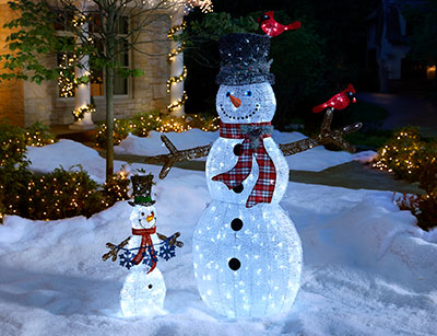Outdoor christmas decorations for Christmas tree lawn decoration