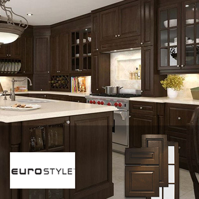 dark brown kitchen cabinets at the home depot