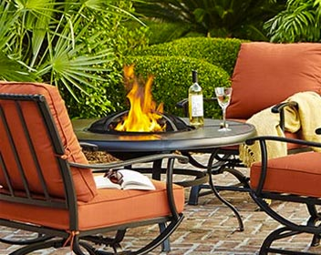 Garden decor decorate your backyard the home depot for Outdoor patio accessories