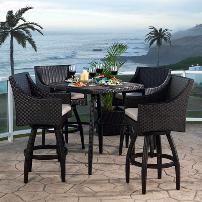 Shop Wicker Bar Furniture  Home Depot Patio