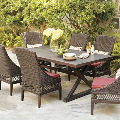 Awesome Shop Wicker Patio Dining Sets Regarding Home Depot Patio