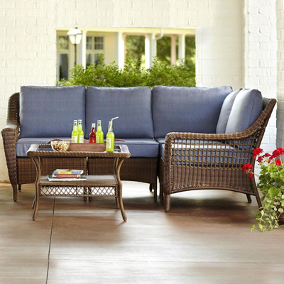 Shop Wicker Lounge Furniture  Home Depot Patio