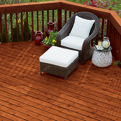 Blue wood stain outdoor