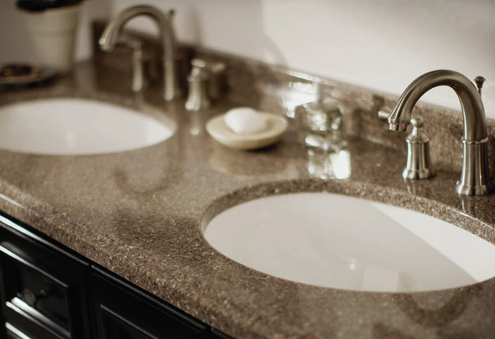Charmant Need New Bathroom Countertops See What Vanity Top Surface Materials Are  Available And How They Stand Up To Water, Soap, Toothpaste And Cosmetics.