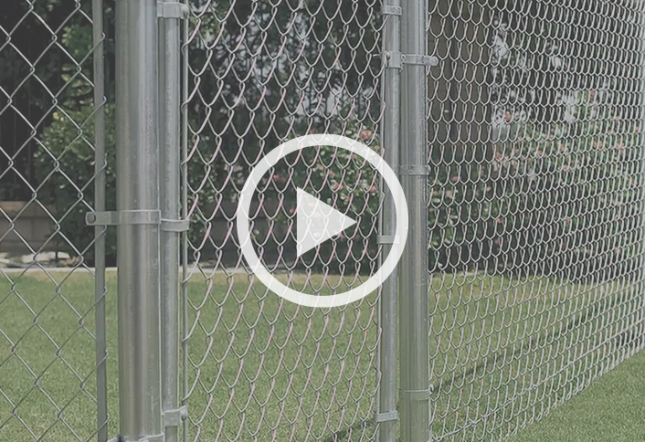 distance between posts on chain link fence 2