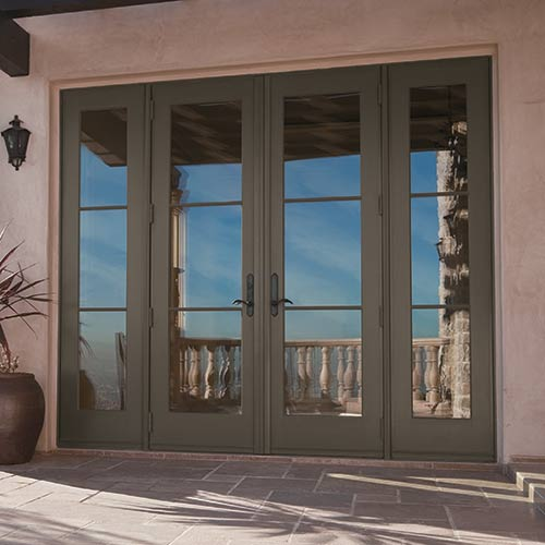 French patio doors with side windows selecting your exterior doors at the home depot planetlyrics Image collections