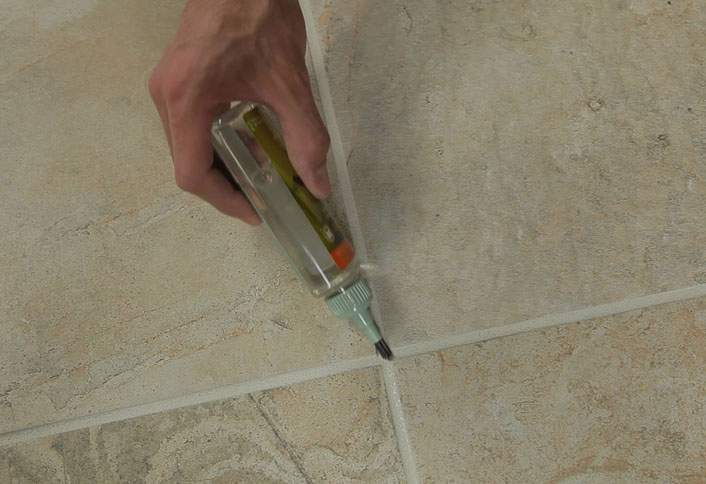 Let Grout Dry Sealer   Grouting Tile Floors