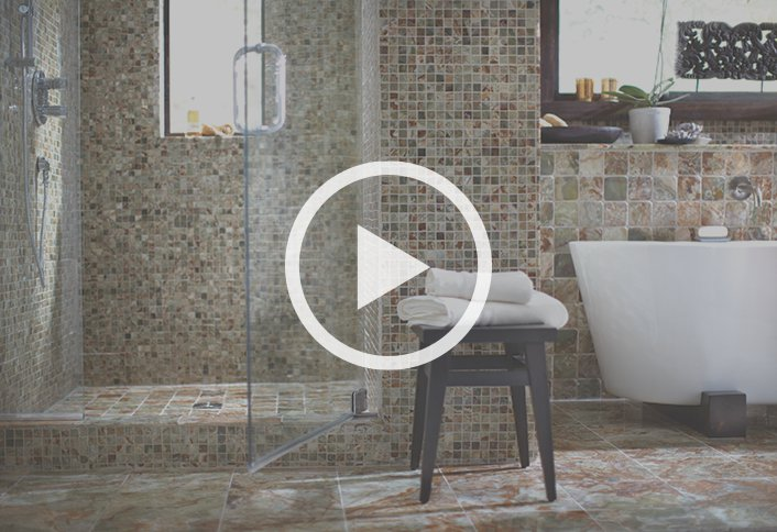 Tile your walls and floors at the home depot for What type of tile for bathroom floor