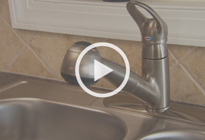 Remove Old Faucet   Install Single Handle Kitchen Faucet