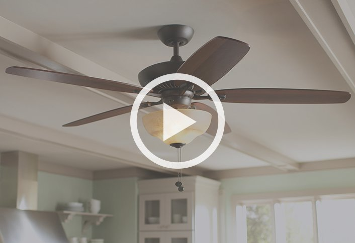 Buying guide ceiling fans and accessories at the home depot for Bathroom 9 foot ceiling
