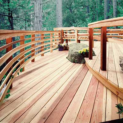 Affordable deck materials at the home depot for Timber decking materials