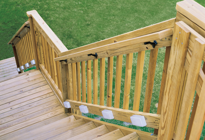 replacing a deck stair railing