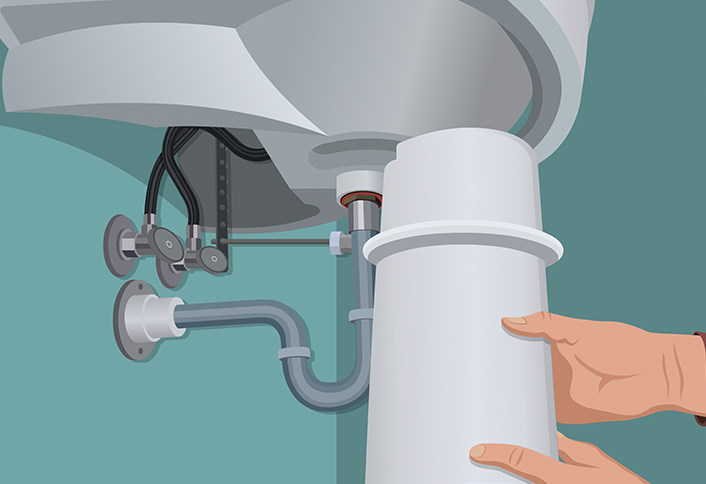 Pedestal Sink Water Supply Lines : Install pedestal - Install Pedestal Sink