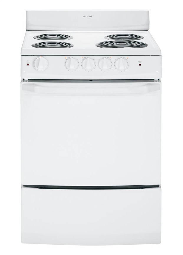 Hotpoint 24 in. 3.0 cu. ft. Electric Range in White-RA724KWH - The ...