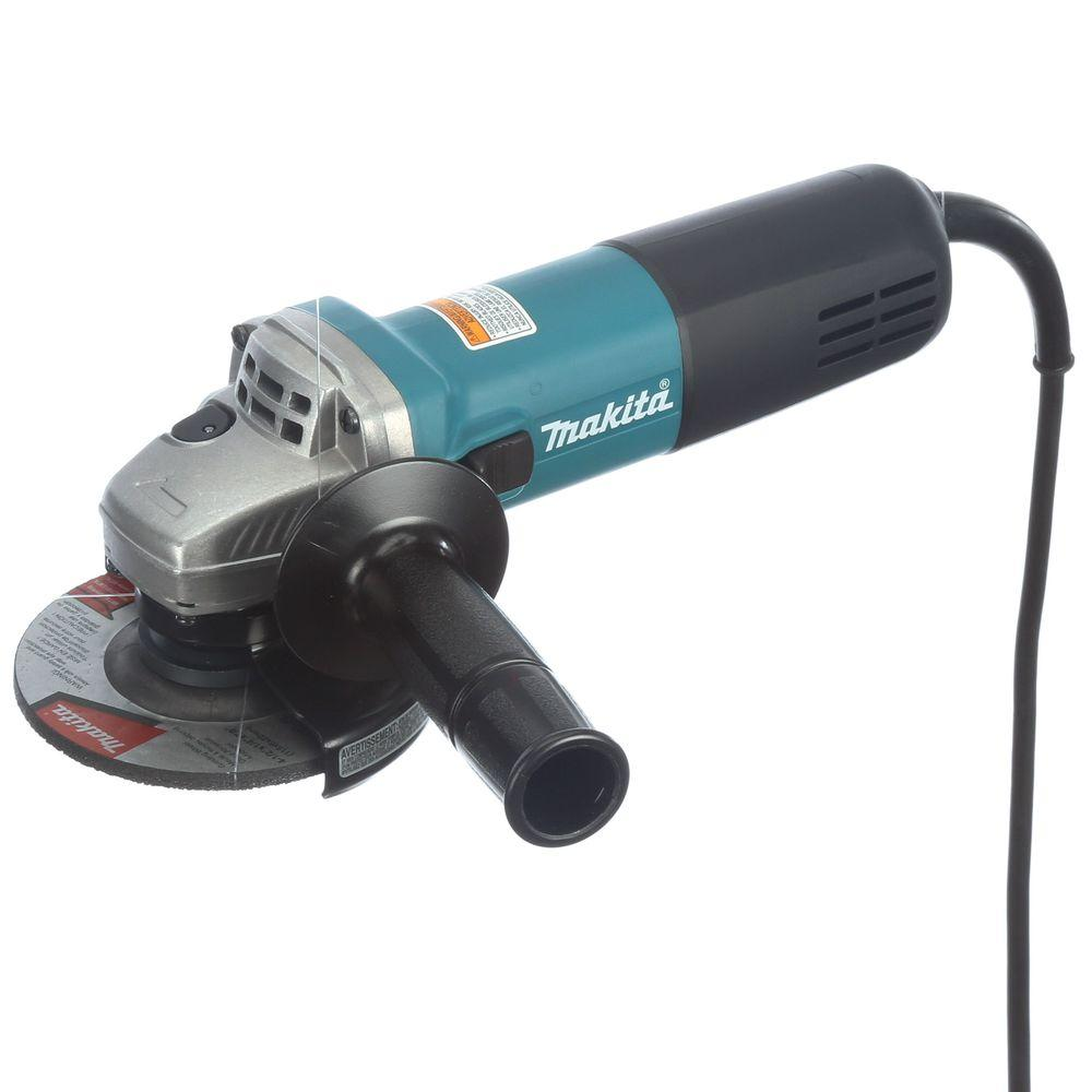 Makita 7 5 Amp Corded 4 1 2 In Easy Wheel Change Compact