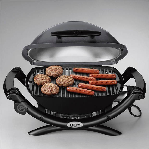 weber q 2400 portable electric grill 55020001 the home depot. Black Bedroom Furniture Sets. Home Design Ideas