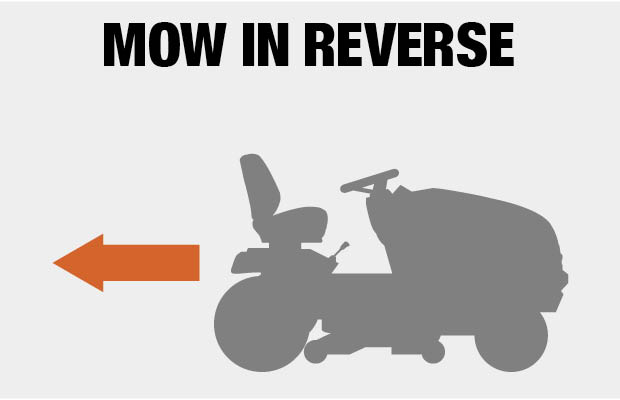 mow in reverse