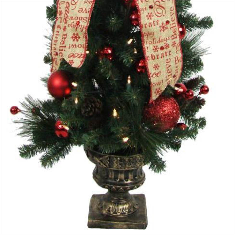 12 Ft Pre Lit Christmas Tree Costco: Home Accents Holiday 4 Ft. Battery Operated Holiday Burlap