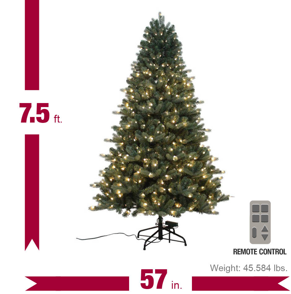 Home Accents Holiday 7 5 Ft Spruce Quick Set Artificial