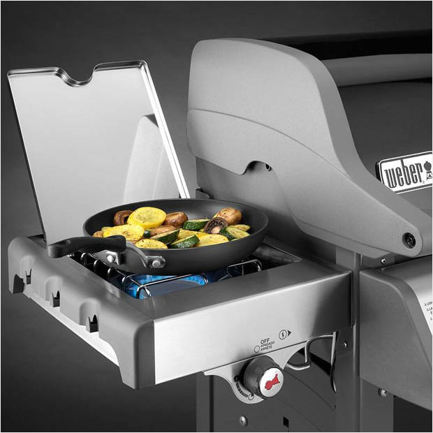 black propane grill from weber