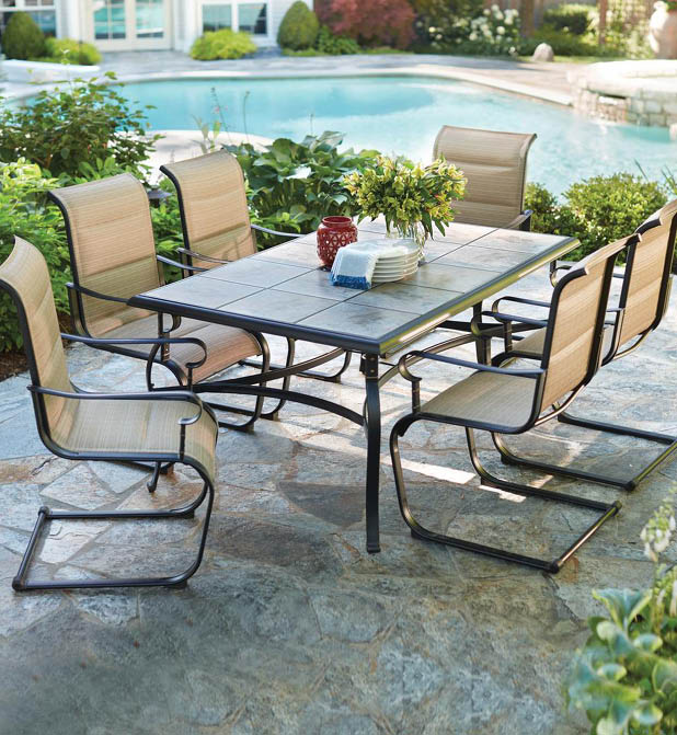 NEW Durable Luxury Outdoor 7 Piece Patio Table Chairs Dining Set Rust Resista