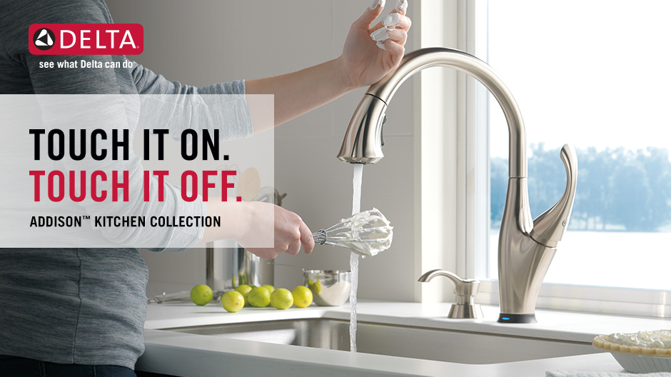 Delta Addison Kitchen Faucet With Touch2O Technology
