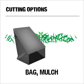 Cutting Options: bag, mulch