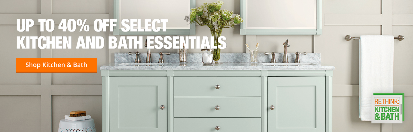 Up to 40% off Kitchen and Bath Essentials