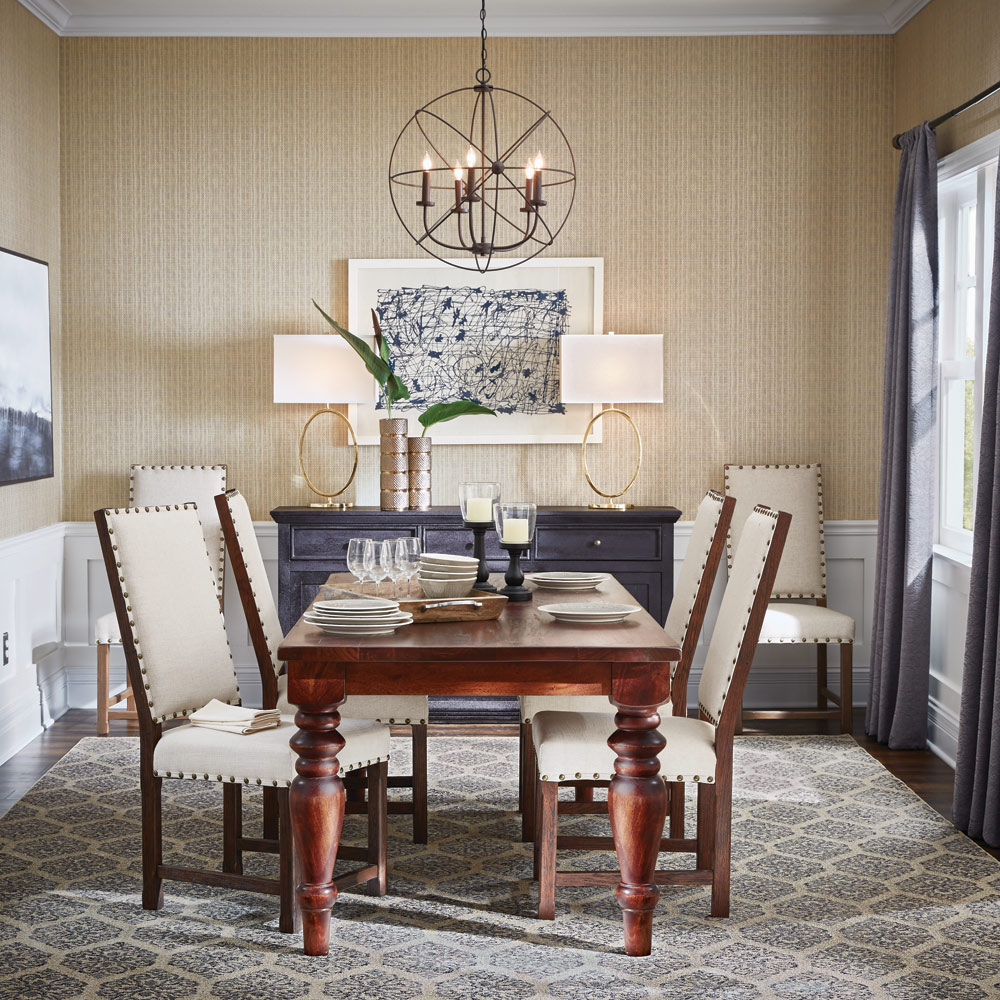 Dining Roon: Outstanding Transitional Dining Room Suitable For Any Home