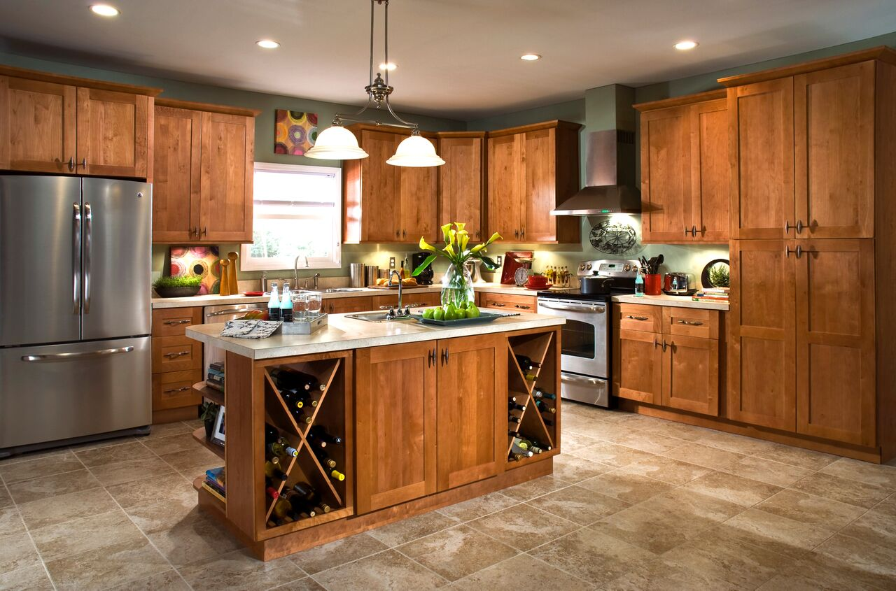Create Amp Customize Your Kitchen Cabinets Hargrove Pantry Cabinets In Cinnamon The Home Depot