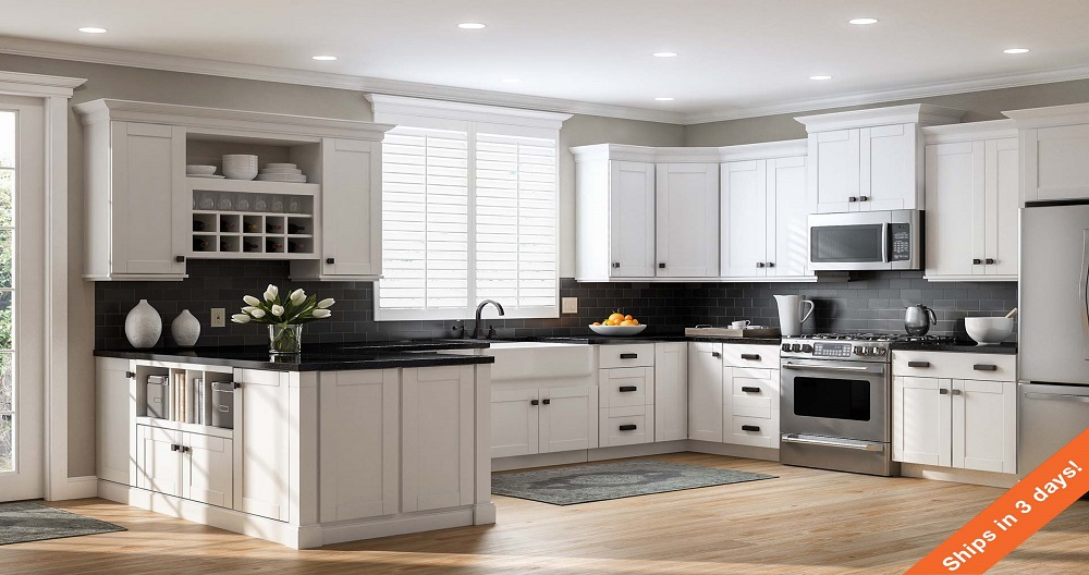 Create Customize Your Kitchen Cabinets Shaker Wall Cabinets In White The Home Depot