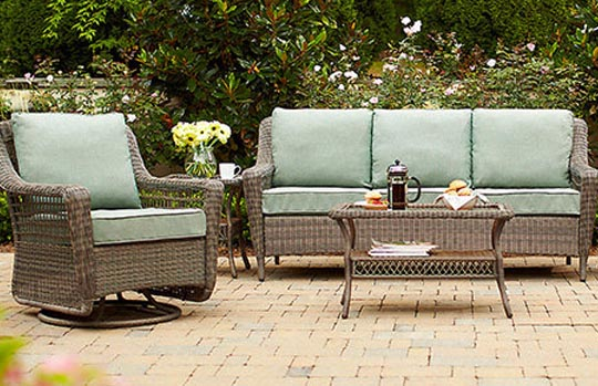 patio furniture home depot. spring haven grey collection patio furniture home depot