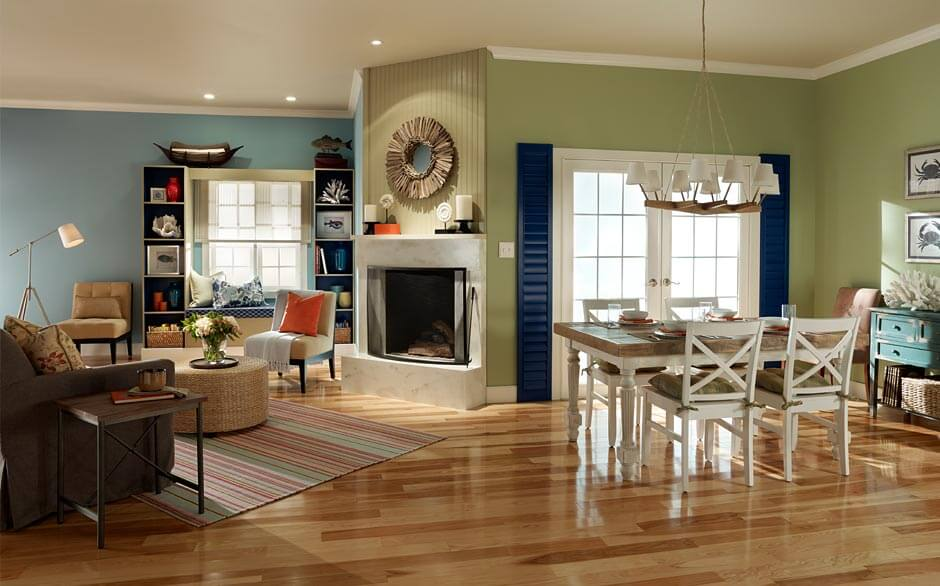 Coastal Living & Living Room - Paint Color Selector - The Home Depot